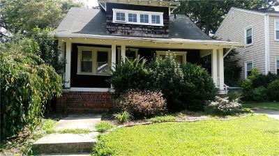 Norfolk Single Family Home New Listing: 717 Delaware Ave