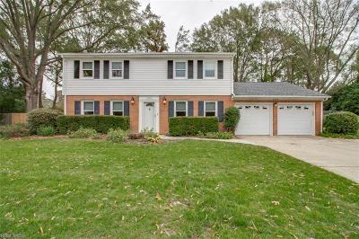 Virginia Beach Single Family Home New Listing: 3600 Chamberlayne Ct