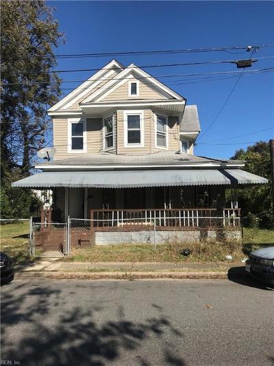 Newport News Single Family Home New Listing: 3010 Oak Ave