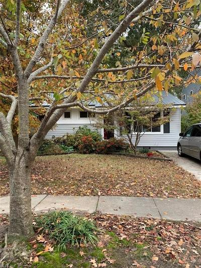 Norfolk Single Family Home New Listing: 1221 Hullview Ave