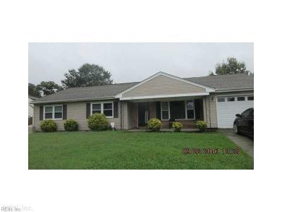Chesapeake Single Family Home New Listing: 3505 Avondale Ct