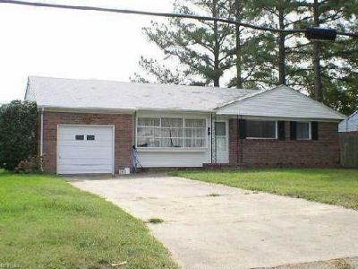 Norfolk Single Family Home New Listing: 8140 Halprin Dr