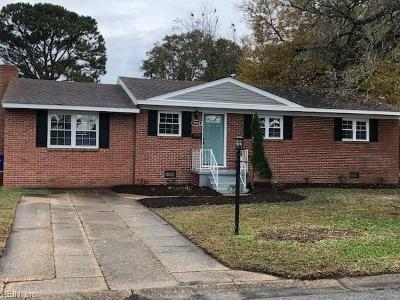 Norfolk Single Family Home New Listing: 7938 Nancy Ct