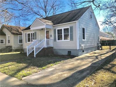 Norfolk VA Single Family Home New Listing: $175,000