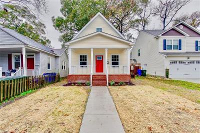Norfolk Single Family Home New Listing: 3007 Montana Ave