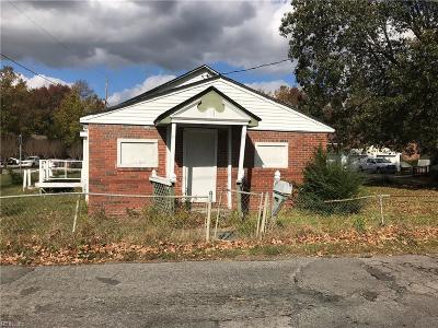 Chesapeake VA Single Family Home New Listing: $45,000
