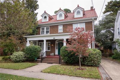 Norfolk Single Family Home New Listing: 1344 Bolling Ave