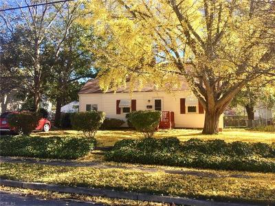 Norfolk Single Family Home New Listing: 8466 Quincy St