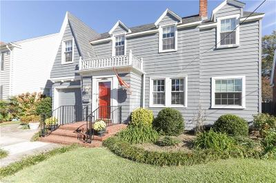 Norfolk Single Family Home New Listing: 6010 Eastwood Ter