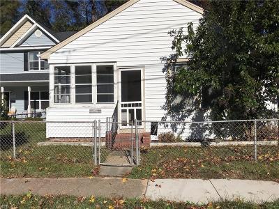 Norfolk Single Family Home New Listing: 1030 E Chester St