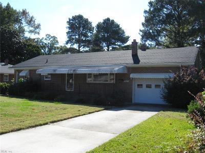 Virginia Beach Single Family Home New Listing: 5617 Elam Ave