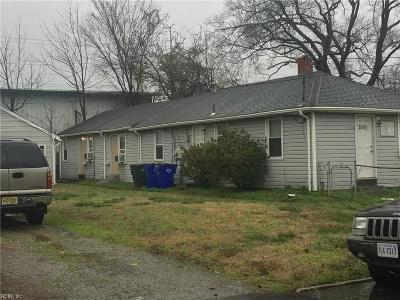 Norfolk Single Family Home New Listing: 3015 Illinois Ave