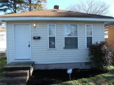 Portsmouth Single Family Home New Listing: 2625 Roanoke Ave