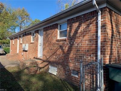 Norfolk Multi Family Home Under Contract: 4511 Dunning Rd