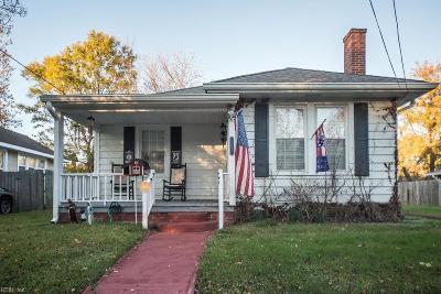 Norfolk VA Single Family Home New Listing: $169,900