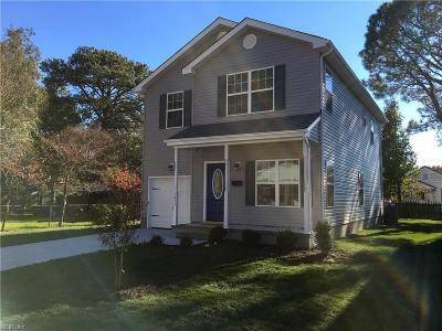 Norfolk VA Single Family Home New Listing: $250,000