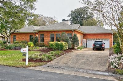 Virginia Beach Single Family Home New Listing: 4120 Cheswick Ln