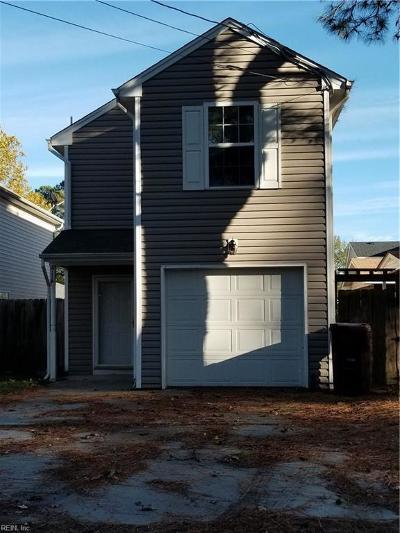 Chesapeake Single Family Home New Listing: 4116 Reid St