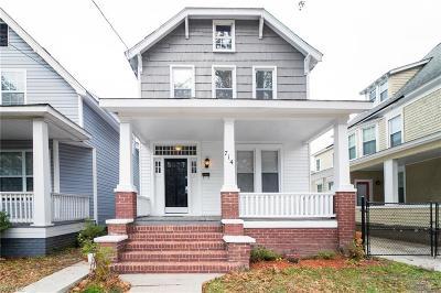 Norfolk VA Single Family Home New Listing: $190,000