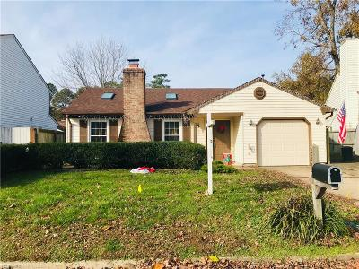 Virginia Beach Single Family Home New Listing: 2512 Dellwood Dr