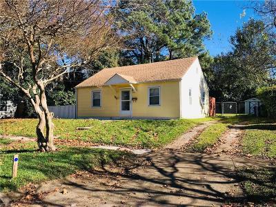 Norfolk VA Single Family Home New Listing: $102,500