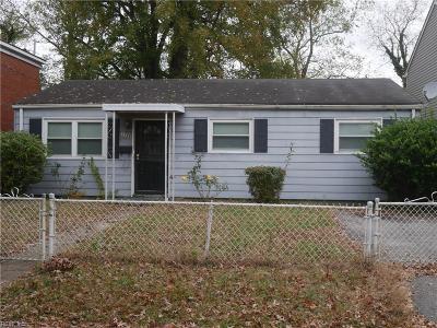 Norfolk VA Single Family Home New Listing: $115,000