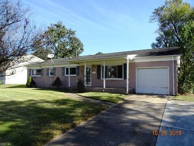 Virginia Beach VA Single Family Home New Listing: $189,000