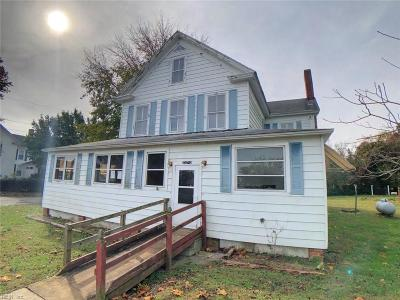 Northampton County Single Family Home Under Contract: 4424 Willis Wharf Rd