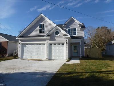 Virginia Beach Single Family Home For Sale: 165 Hughes Ave