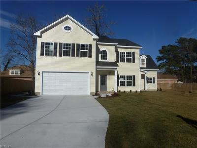 Virginia Beach Single Family Home For Sale: 1088 Frazee Ln