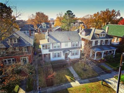 Norfolk Single Family Home For Sale: 619 Baldwin Ave