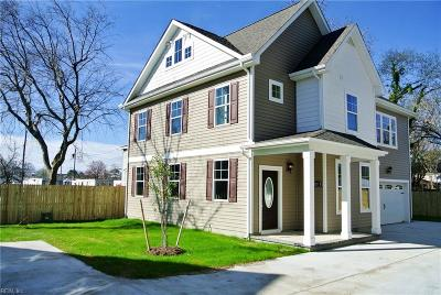 Norfolk Single Family Home For Sale: 8011 Woodall Rd #B