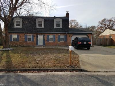 Virginia Beach Single Family Home New Listing: 3717 Summer Pl