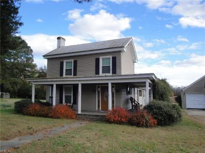 Suffolk Single Family Home New Listing: 6320 Whaleyville Blvd