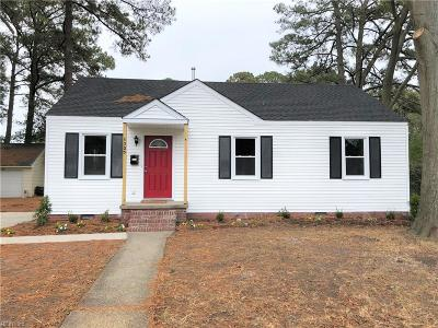 Portsmouth Single Family Home For Sale: 3505 Forrest Ct