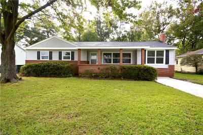 Norfolk Single Family Home New Listing: 8220 Wedgewood Dr