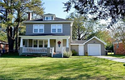 Virginia Beach Single Family Home New Listing: 1345 Credle Rd