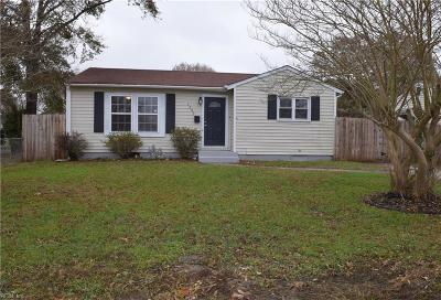 Single Family Home For Sale: 1245 Great Bridge Blvd