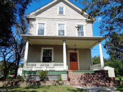Portsmouth Single Family Home New Listing: 1630 Barron St