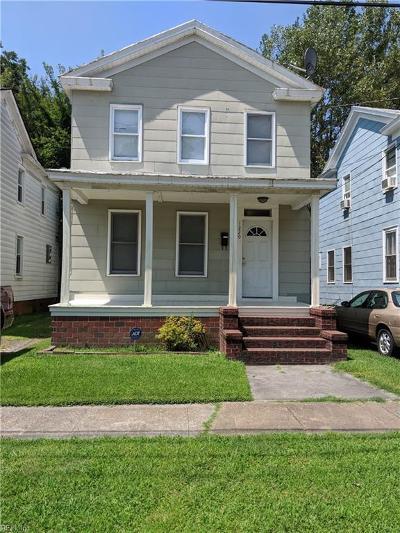 Chesapeake Single Family Home New Listing: 1220 Stewart St
