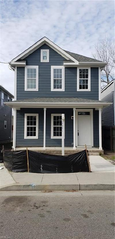 Norfolk Single Family Home New Listing: 1831 E Lexington St