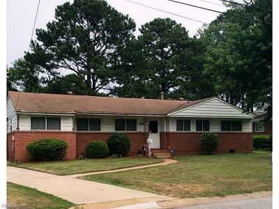 Norfolk Single Family Home New Listing: 3456 Fletcher Dr