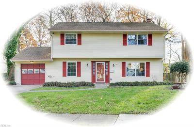 Newport News Single Family Home New Listing: 763 Chatsworth Dr