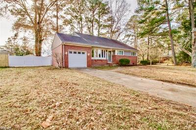 Norfolk Single Family Home New Listing: 5441 Poplar Hall Dr