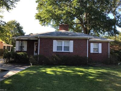 Norfolk Single Family Home New Listing: 5923 Oetjen Blvd