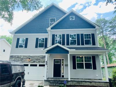 Norfolk Single Family Home New Listing: 3573 Ladd Ave
