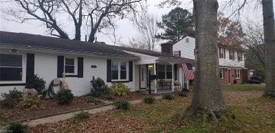 Virginia Beach Single Family Home New Listing: 404 Hannibal St