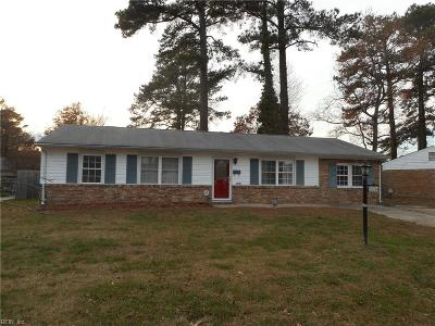 Virginia Beach Single Family Home New Listing: 3604 Starlighter Dr