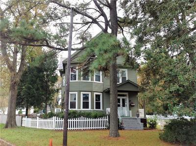 Chesapeake Single Family Home New Listing: 604 D St