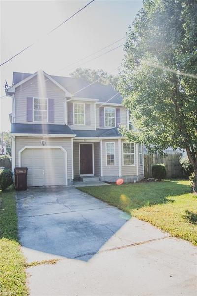 Chesapeake VA Single Family Home New Listing: $213,000